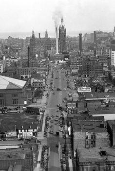 Throwback. Milwaukee skyline 1940.