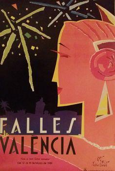1989 Fallas Festival Advertisement  Original by OutofCopenhagen