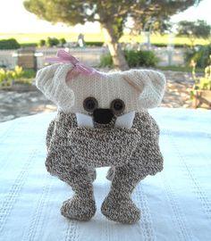 Sock Bulldog made from Sock Monkey socks! :)  Sock Bulldogs Made To Order by DeedleDeeCreations on Etsy, $25.00