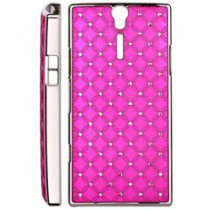 Custodia Xperia S - Cover Diamonds Rosa