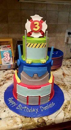 Rescue bots cake                                                                                                                                                                                 More