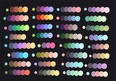 Color palettes by Kawiku http://kawiku.deviantart.com/