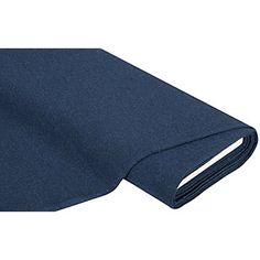 """Tissu bord côte """"confort"""", bleu foncé/mélangé,en forme de tube, à côtes fines, très extensible et peu déformable grâce à l'élasthanne, idéal pour des bord côtes à des pulls, pantalons, vêtements de loisirs, etc. Le tissu est disponible en coupon de 0,5 m ou 1 m.Composition : 93 % coton, 7 % &amp..."""