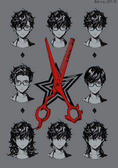 Haircuts for Akira Persona Five, Persona 5 Anime, Persona 5 Joker, Mago Anime, Ren Amamiya, Akira Kurusu, Estilo Anime, Shin Megami Tensei Persona, Drawing Reference