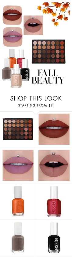 """""""Fall Beauty"""" by lexisnotcool ❤ liked on Polyvore featuring beauty, Morphe, Jeffree Star and Essie"""
