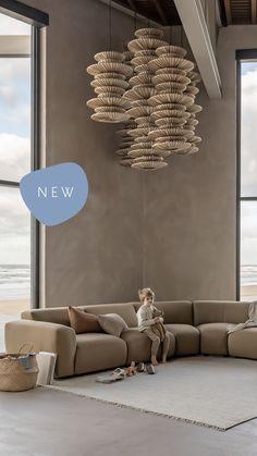 Nu online: De Cosy Sofa. Een modulaire bank met zachte vormen, wordt creatief en kies jouw favoriete combinatie. Interior Architecture, Interior And Exterior, Bamboo Architecture, Interior Design, Beautiful Houses Inside, Mykonos Villas, Living Room Interior, Living Room Sofa, Houseboat Living