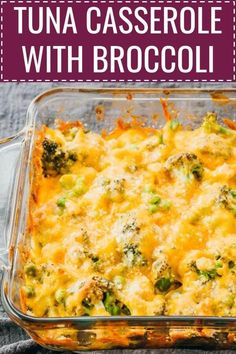 This is an easy, low carb, and keto recipe for baked tuna casserole with broccoli. It's simple and quick to make, with only 6 ingredients, . Healthy Tuna Recipes, Canned Tuna Recipes, Tuna Casserole Recipes, Fish Recipes, Seafood Recipes, Low Carb Recipes, Dinner Recipes, Cooking Recipes, Tuna Casserole Healthy