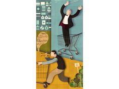 "For BBC Radio 4 show ""Supermarket Symphony"" | Radio Times magazine | by Andrew Lyons"
