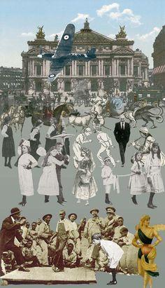Pop Art Británico Paris- Dancing by Sir Peter Blake Peter Blake, Jasper Johns, Robert Rauschenberg, David Hockney, Roy Lichtenstein, Pop Art, Cultura Pop, Andy Warhol, Collages