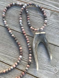 Double Horn Necklace - Antler Jewelry - Horn Jewelry - Tine Designs by Mindi - Real Antler Necklace - Deer Antler Neckace