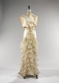 Evening Dress, 1935, American, made of silk