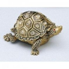 JEWELED TORTOISE TRINKET BOX