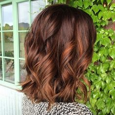 Brown+Lob+With+Copper+Highlights