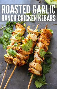 roasted garlic ranch chicken kebabs-41