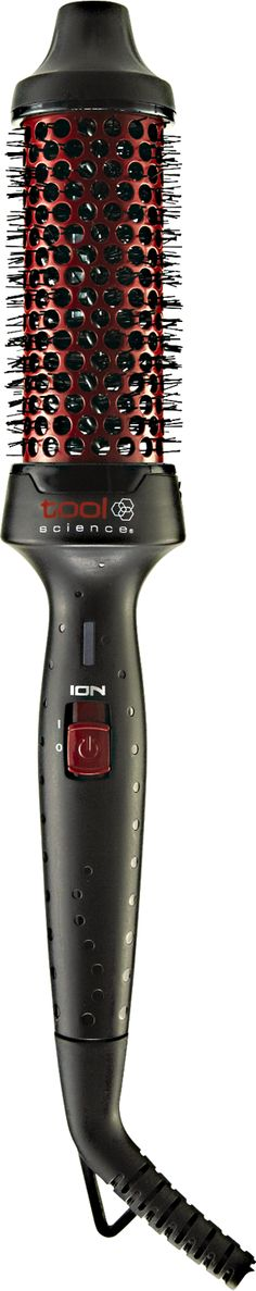 The Tool Science Electric Ceramic Brush Iron creates volume, soft curls, and refreshing hair styles.