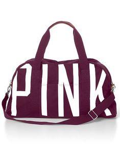 Maroon Pink Duffel bag
