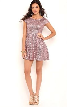Debs sequence pink homecoming dress