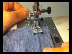 Hemming stretch fabrics with a twin needle