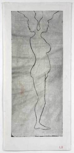 Louise Bourgeois, Janus, 2008 – drypoint engraving printed on cloth, 93.6 × 42.5 cm