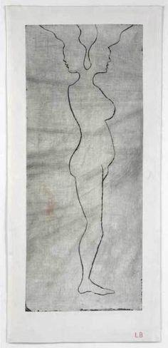 Louise Bourgeois, Janus, 2008 – drypoint engraving printed on cloth, 93.6 × 42.5 cm