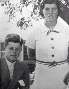 A young John F. Kennedy with his sister Rosemary.