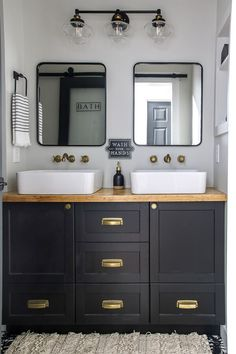 Come see this stunning and budget friendly before and after small guest bathroom makeover reveal tour from Living Letter Home! White Bathroom, Small Bathroom, Master Bathroom, Bathroom Ideas, Bathroom Things, Design Bathroom, Bathroom Vanities, Neutral Bathroom, Bathroom Modern
