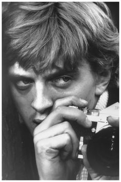 David Hemmings on the set of 'Blow Up', Antonioni, 1966. Photo by Tazio Secchiaroli.