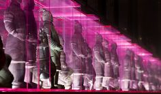 Terracotta warriors in Dragonfly Night Club designed by Munge Leung in 2006.