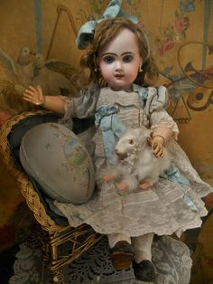 """~~~ Very nice French Bisque Bebe Jumeau """" Bebe Louvre """" ~~~ from whendreamscometrue on Ruby Lane"""