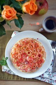 Tarta z różami, na Dzień Kobiet :)