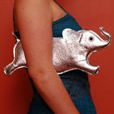 Orwell Clutch - Silver Elephant Purse - no longer available but by tsurubride on etsy Happy Elephant, Elephant Love, Delta Girl, Novelty Bags, Unique Bags, Unique Purses, Delta Sigma Theta, Herve, Shopping Day
