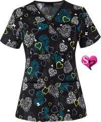 Cherokee Flexibles Scrubs I Love Lace Print Top Style #  CK2915IV