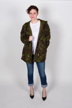 Star Embroidered Camo Jacket