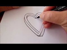 ▶ How to draw an impossible heart - YouTube by Ellen Wolters.  This demo is more drawing than tangle, but could be done as tangle once you get the idea