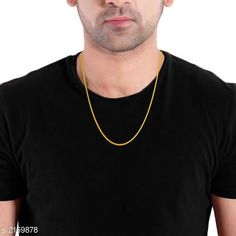 Necklaces & Chains Elegant Gold Plated Chain Material : Gold Plated   Size: Free Description : It Has 1 Piece Of Men's Chain  Work : Embellished Country of Origin: India Sizes Available: Free Size   Catalog Rating: ★4.1 (482)  Catalog Name: Diva Elegant Gold Plated Chains Vol 2 CatalogID_286655 C77-SC1092 Code: 341-2159878-