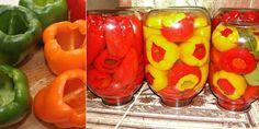 Hledáte jednoduchý a levný způsob, jak si zavařit papriky na zimu? Právě jste ho našli! Home Canning, Pickles, Mason Jars, Stuffed Peppers, Vegetables, Pune, Drinks, Google, Fitness