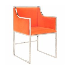 A sleek orange chair to add to any room in your home for a pop of color by Zinc Door.