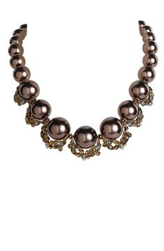 Glass Pearl Collar Necklace