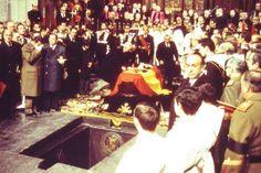Franco's funeral 1975,  Valle de los Caídos, outside Madrid