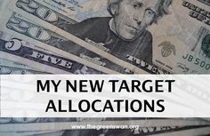 My investment portfolio is going through changes as I look to invest in a new small business. I've taken this opportunity to set my new target allocations.