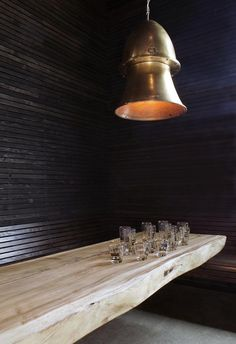 wooden wall and bench