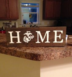 Home Marine Corps decor sign by KTsCharmingCreations on Etsy