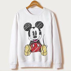 1686a14efa4df Mouse Cartoon Cute Casual Sweatshirt Tumblr Sweatshirts, Sports Sweatshirts,  Disney Sweatshirts, Cute Sweatshirts