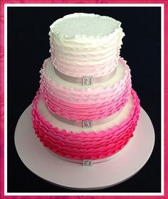 Buckled Ombre Cake