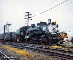 Chicago, Burlington & Quincy 4960 makes a water stop in Mendota, Illinois back…