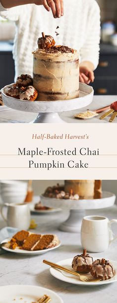 Now Serving: Fall Favorites with Tieghan Gerard of Half-Baked Harvest Fall Desserts, Just Desserts, Delicious Desserts, Dessert Recipes, Yummy Food, Chai, Cupcake Cakes, Cupcakes, Half Baked Harvest