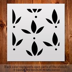 Stencil For DIY. Floral Stencil. – StencilsLab Wall Stencils and Decals
