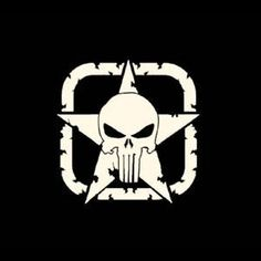 Punisher Jeep Star - Vinyl Decal                              …