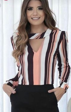 Swans Style is the top online fashion store for women. Shop sexy club dresses, jeans, shoes, bodysuits, skirts and more. Trendy Fall Outfits, Latest Outfits, Girl Fashion, Fashion Dresses, Sleeves Designs For Dresses, Corporate Wear, Fancy Tops, Blouse Styles, Work Attire