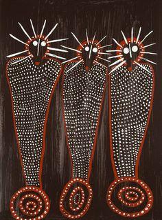 Edna Dale, limited edition fine art print - Wandjina - from the Kimberley Aboriginal Patterns, Aboriginal Dot Painting, Aboriginal Artists, Indigenous Australian Art, Indigenous Art, Aboriginal Art Australian, Australian Painting, Spirited Art, Native Art